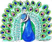 PEACOCK ART PROJECT Recommended For K 2nd Grade