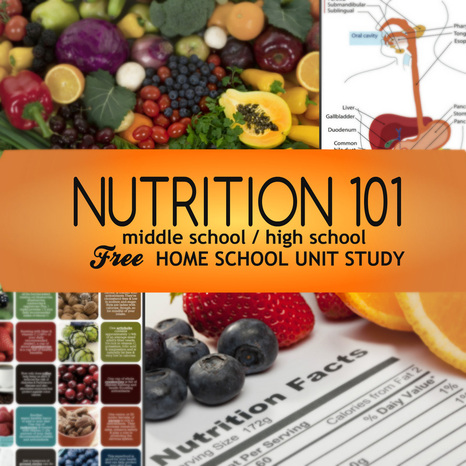 Biology Unit Study Nutrition - HOMESCHOOL LESSON PLANS